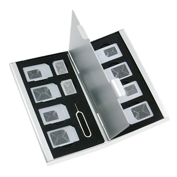 14 in 1 Portable card holder Aluminum card box SIM card case