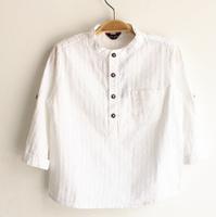 CS45 white color new 2015 boys shirts 2-8 age long sleeve shirt boy clothing free shipping 5pcs/ lot