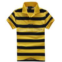 2014 New Fashion brand Short Sleeve Men Polo Ralph Men Cotton Casual Breathable Fitness stripes Men Polo Shirts #886