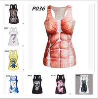 120 style!!!2015 New Women T shirt Casual T-shirt Lovely Minions Cartoon 3D Print Women 's tank top novelty tops