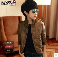 Male child wadded jacket outerwear thickening 2014 children's clothing child cotton-padded jacket child cotton-padded jacket
