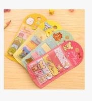 Korea Stationery Cute Cartoon Printed Memo Pad mini message post  notebook/Writing Pads 8 set /1 lot  School Supplies