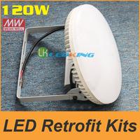 120W Retrofit Kits LED Canopy Light retrofit kit MW Meanwell Driver Gas station Lights floodlight IP65 Adjusting Angle UL FCC CE