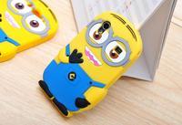 For Samsung Galaxy Ace S5830 Cute Cartoon Soft Silicon Rubber Back Cover Despicable Me 2 Minions Yellow Minion Case FA014