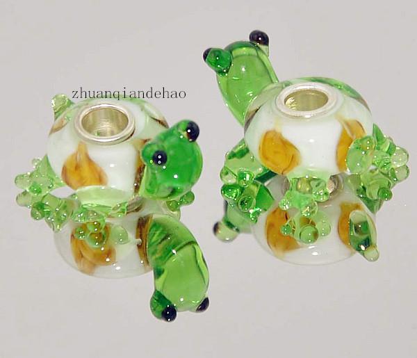 3P Advanced Animal Series 925 Stering Silver Pet Turtles GLASS BEAD LAMPWORK fit Pandora European Bracelet