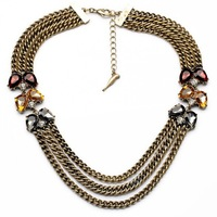 Fashionable Vintage Multi-Layers Statement Necklace Charm Jewelry Elegant Dress Jewelry Hot Sales