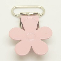 Free shipping 200pcs/lot,flower top in babypink 20mm fabric suspender clip wholesale Suspender Clip,clips Suppliers&Manufacturer