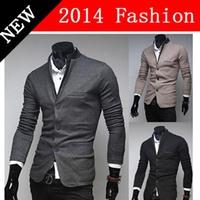 2014 NEW Winter Fashion Casual slim fit Warm blazers terno masculino men's clothing Long Sleeve Cardigan men blazer 1108K