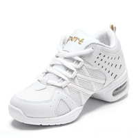 Dance shoes increased soft outsole white dance shoes dance shoes square gauze breathable modern dance shoes aerobics shoes