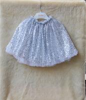 2014 baby girls skirt kids lace sequined vestido New Arrival Children pettiskirt fluffy chiffon tutu short saia for 3-8Y