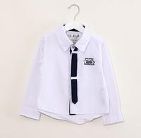 CS38 casual dress new 2015 boys shirt  2-10 age long sleeve kid shirt for boys clothes free shipping 6pcs/ lot