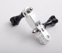 New arrival Alu for GoPro mount three-way Adjustable Pivot Arm Assembly extension+thumb knob roll bar mount Silver