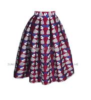 2015 New Arrival Original Design Gorgeous Vintage Princess Style High Waist Floral Print Pleated Skirt Swing Tutu Puff Skirts