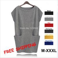 Cheapest New ArriveClassic best-selling Autumn Winter Women's woolen Dress Sweaters Casual Pocket Jersey Dresses For Women