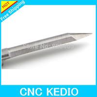 Sharp 3.175mm 40 Degree 0.4mm Flat Bottom Milling Tools, CNC Engraving Bits, V Shape PCB Cutters on MDF, Wood, Acrylic, Plastic