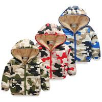 2015 winter boys clothing girls clothing child plus velvet thickening wadded jacket