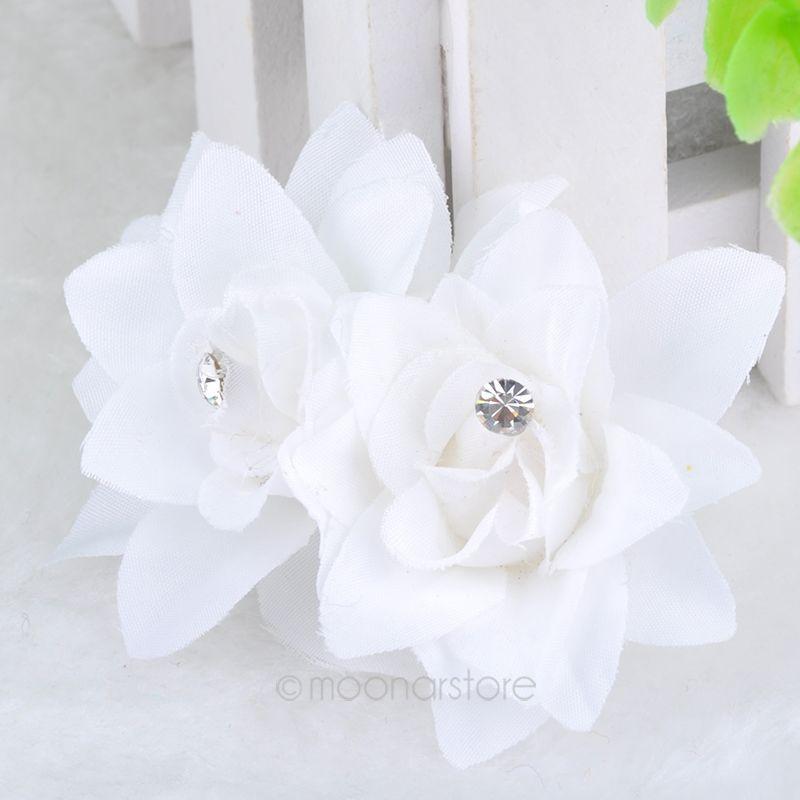 Fashion Design 5 Colors Bridal Wedding Party Women Beauty Crystal Rhinestone Flower Petal Hair Pin Hair Clip LX*MPJ125(China (Mainland))