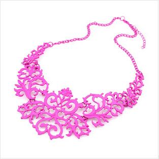 Бренд дизайн мода модный винтаж элегантный шарм ажурный узор ожерелье для женщины ...