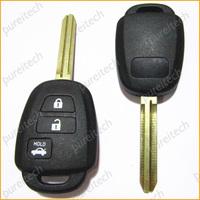 wholesale 10pieces/lot black plastic 3 button car toyota remote key covers