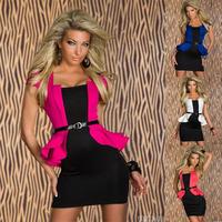 fashion women sexy club nightclub evening packet hip dress costume