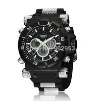 Stylish Fashion Men Outdoor Day Alarm Analog-Digital Dual Display Sport Man Wrist Watch
