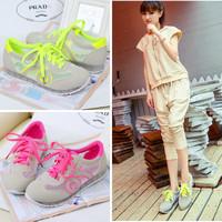 New Korean Summer Women Flats Soles Fretwork Mesh Upper Sandals Comfortable Casual Sport Shoes Student shoe 1 Pair Free Shipping