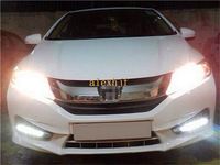 Super Bright LED daytime running lights DRL with fog lamp cover, LED fog lamp case for Honda CITY 2013~ON 1:1 replacement