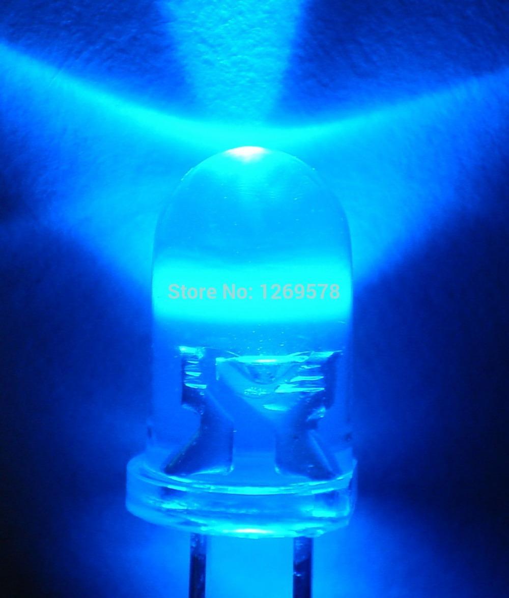 200pcs/lots 5mm led BLUE light bulbs / 5MM blue Colour LED emitting diode BLUE LED(China (Mainland))