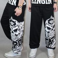 New Parkour basketball of hip-hop dance pants Fashion European Men's Spring Autumn casual Personality loose Sport Pants