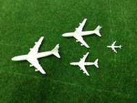 Model Airplane white color Scale 1/75--1/500 for Landscape Scenery Model 20pcs