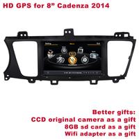 "Free Shipping Better HD 8"" Cadenza 2014 Car Audio Radio DVD Player Navigation GPS Radio DVR WIFI 3G Better Service+Better Gifts"