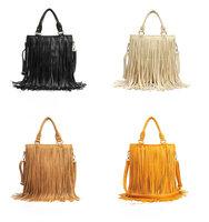 Free Shipping Punk Tassel Fringe Fashion PU Leather Handbag Shoulder Bag Tote Bag
