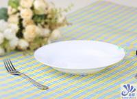 8 Inch European Pure White Tableware Creative Bone China Soup Dish