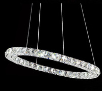 modern lamp single ring LED Double round crystal chandelier aslo for wholesale Galaxy LED ring 1pcs