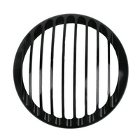 """5 3/4"""" Aluminum Headlight Grill Cover For 2004-2014 Harley Sportster XL883 XL1200 Black New"""