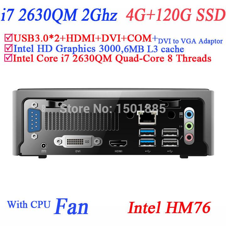 2015 newest cheap mini computer linux with Intel Quad Core i7 2630QM 2.0Ghz 8 threads micro pc mini computer(China (Mainland))
