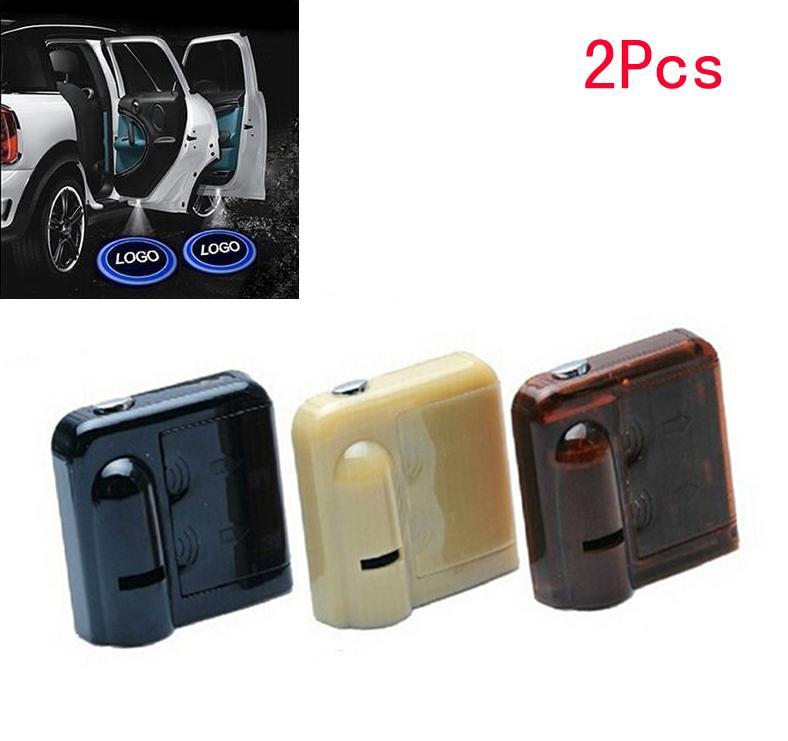 2x 3D LED Door courtesy Shadow Car SUV Auto logo Welcome light No Drill Wireless(China (Mainland))