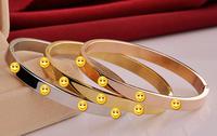 2014 New Sale 18K gold Plated Bangle  Hot Fashion Top Brand  Love series titanium steel bangle   #SK70769