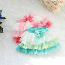 2015 bebê tutu saia de renda pettiskirt saias das meninas do arco-íris tutu skirt saias moda infantil grande arco moda infantil C19-004(China (Mainland))
