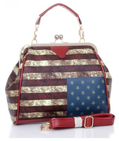 Free Shipping Retro Antique Bellows Type Flag Shoulder Bag