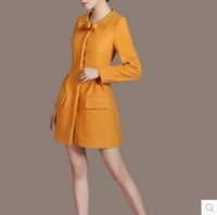 2014 elegant woolen overcoat outerwear plus size clothing