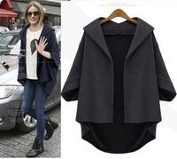 spring woman jackets,loose hooded outerwear women jacket autumn kimono cardigan coat,plus size L-4XL blazers and jackets,casacas