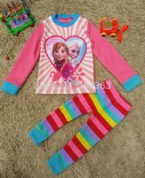611&612 Free shipment fahsion Frozen style kids pajamas home clothes
