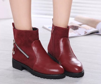 New design zipper personality Women Boots Autumn high quality lady Shoes retail free shipping