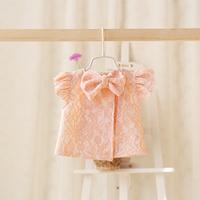 2015 New,baby girls lace floral vests,children princess waistcoats outerwear,bow,3 colors,5 pcs/lot,wholesale,2063