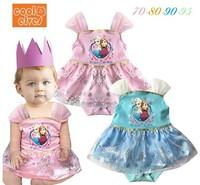 New design girls cartoon summer princess romper dress kids lovely Frozen sleeveless jumpsuits baby cute casual rompers in stock