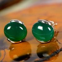 Opal Earrings Green/Red/Blue/White Simulated Diamond Studs for Women Wedding Fashion Luxury Fine Jewelry Cat Eye's Brincos SYC39