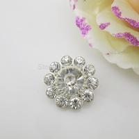 (OY415 22mm)100Pcs Round Shinny Shank Rhinestone Crystal Button For Garment Accessory