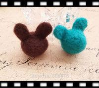 40MM 10Pcs ( Pure Handmade & Wool felt) 3D M.K Woolen Wire Jewelry Findings & Garment  Accessories