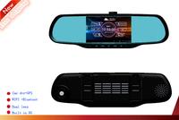 Free shipping NEW HD1080P Car camera WIFI Android Rear view GPS HDMI night vision G-sensor car dvr mirror camera video recorder